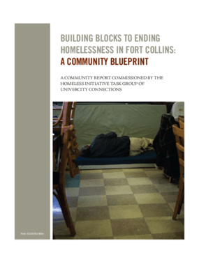 Building Blocks to Ending Homelessness in Fort Collins: A Community Blueprint