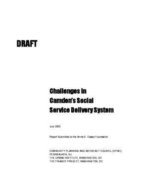 Challenge in Camden's Social Service Delivery System