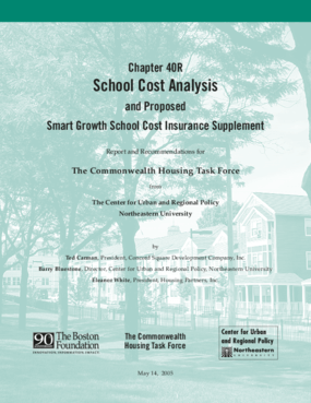 Chapter 40R School Cost Analysis and Proposed Smart Growth School Cost Insurance Supplement