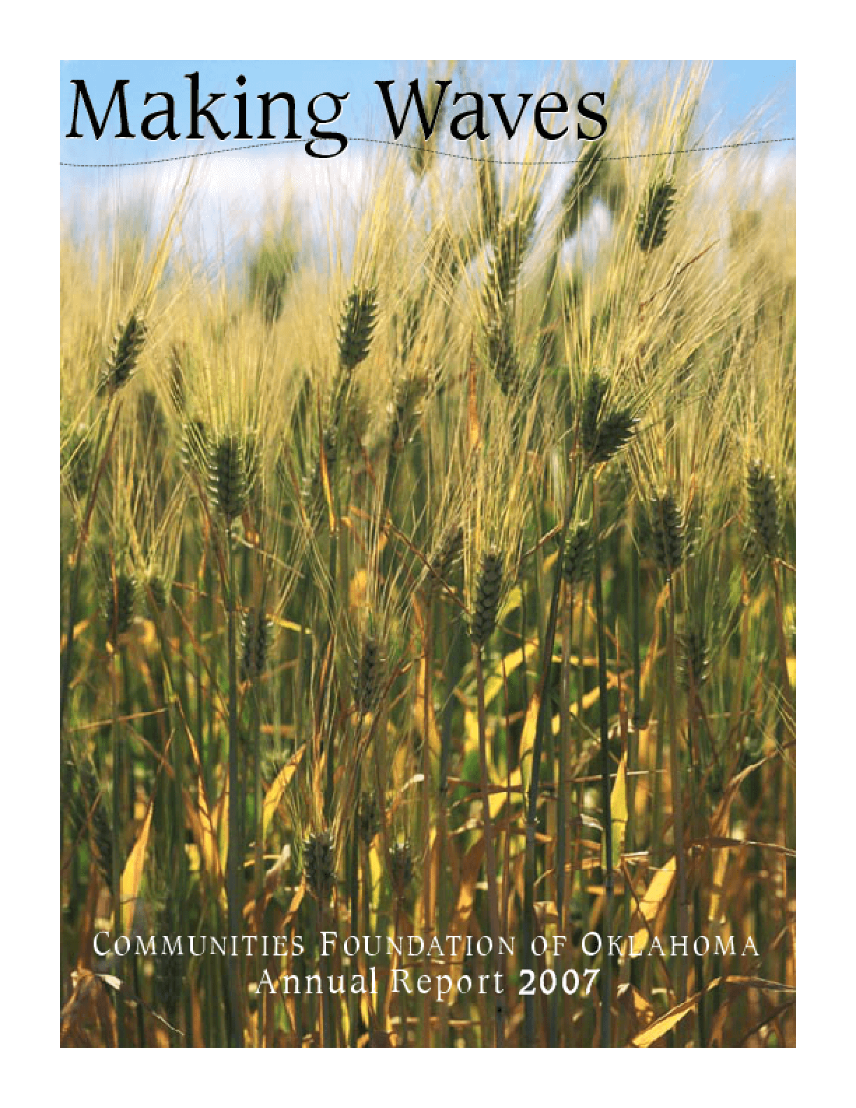 Communities Foundation of Oklahoma - 2007 Annual Report