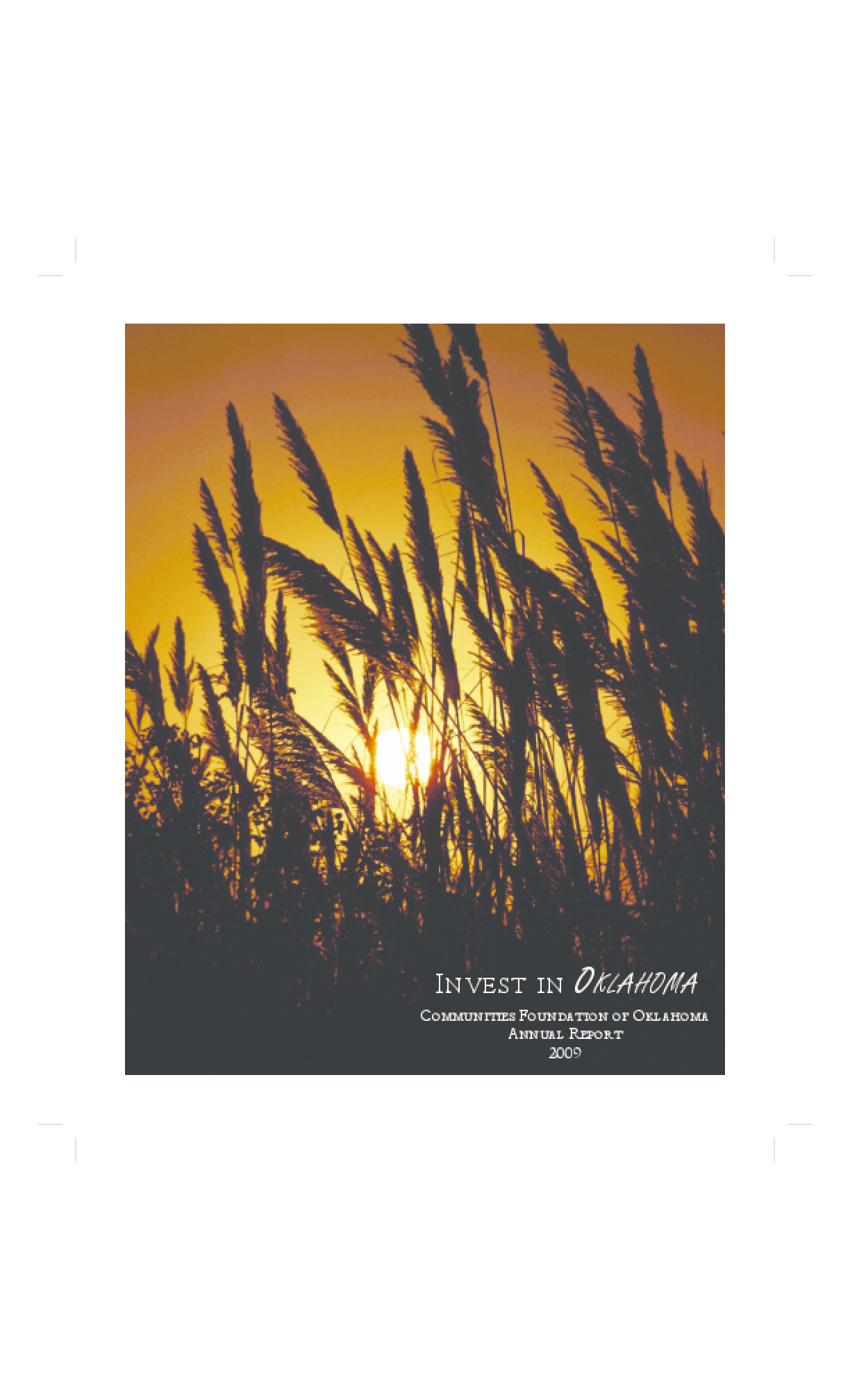 Communities Foundation of Oklahoma - 2009 Annual Report