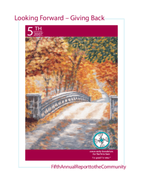 Community Foundation for the Twin Tiers - 2007 Annual Report