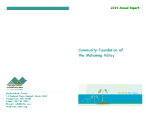 Community Foundation of the Mahoning Valley - 2004 Annual Report