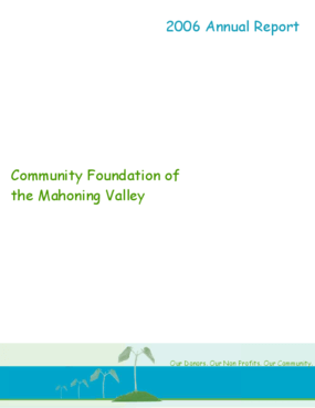 Community Foundation of the Mahoning Valley - 2006 Annual Report