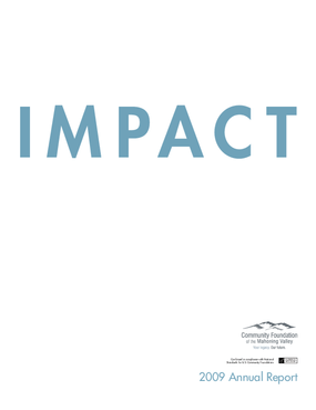 Community Foundation of the Mahoning Valley - 2009 Annual Report: Impact