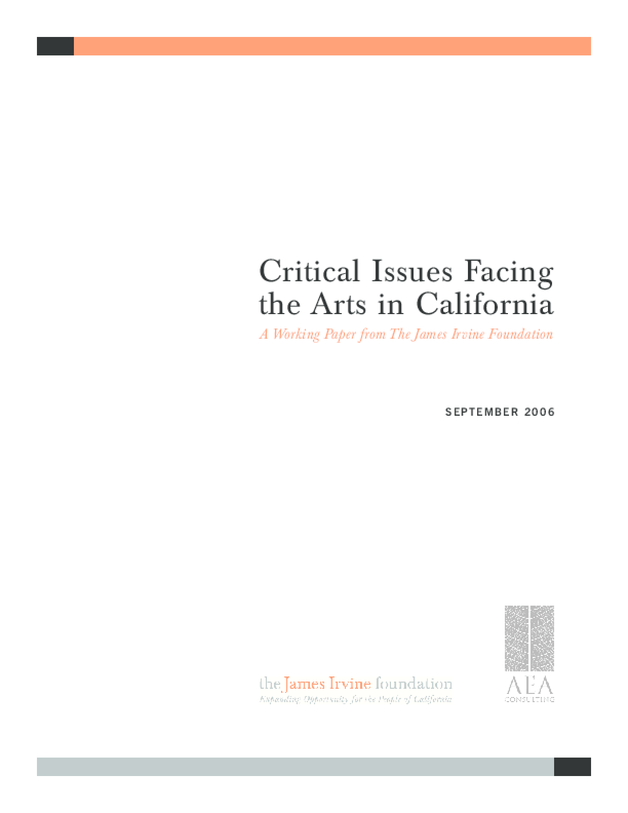 Critical Issues Facing the Arts in California