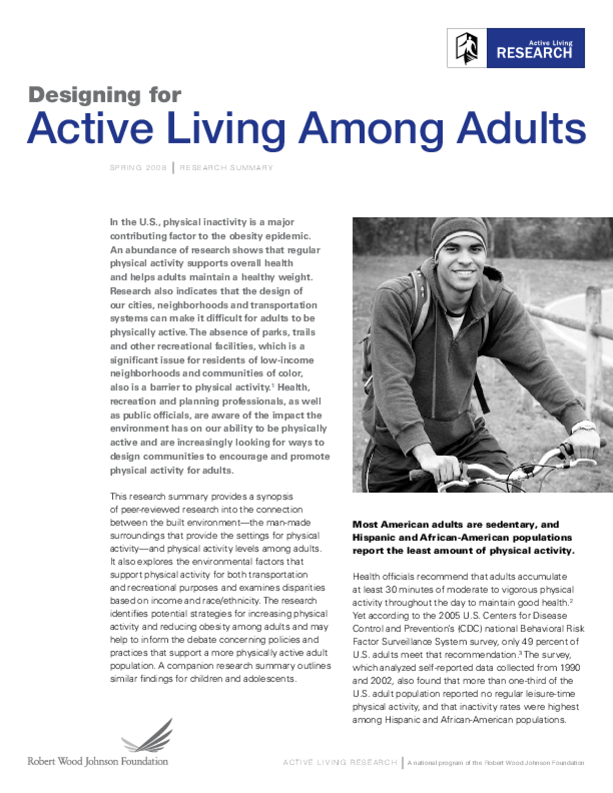 Designing for Active Living Among Adults
