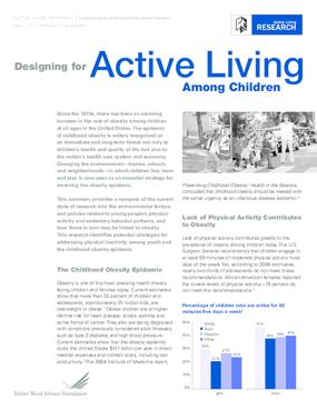 Designing for Active Living Among Children