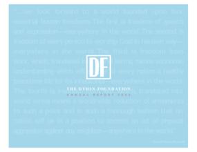 Dyson Foundation - 2002 Annual Report