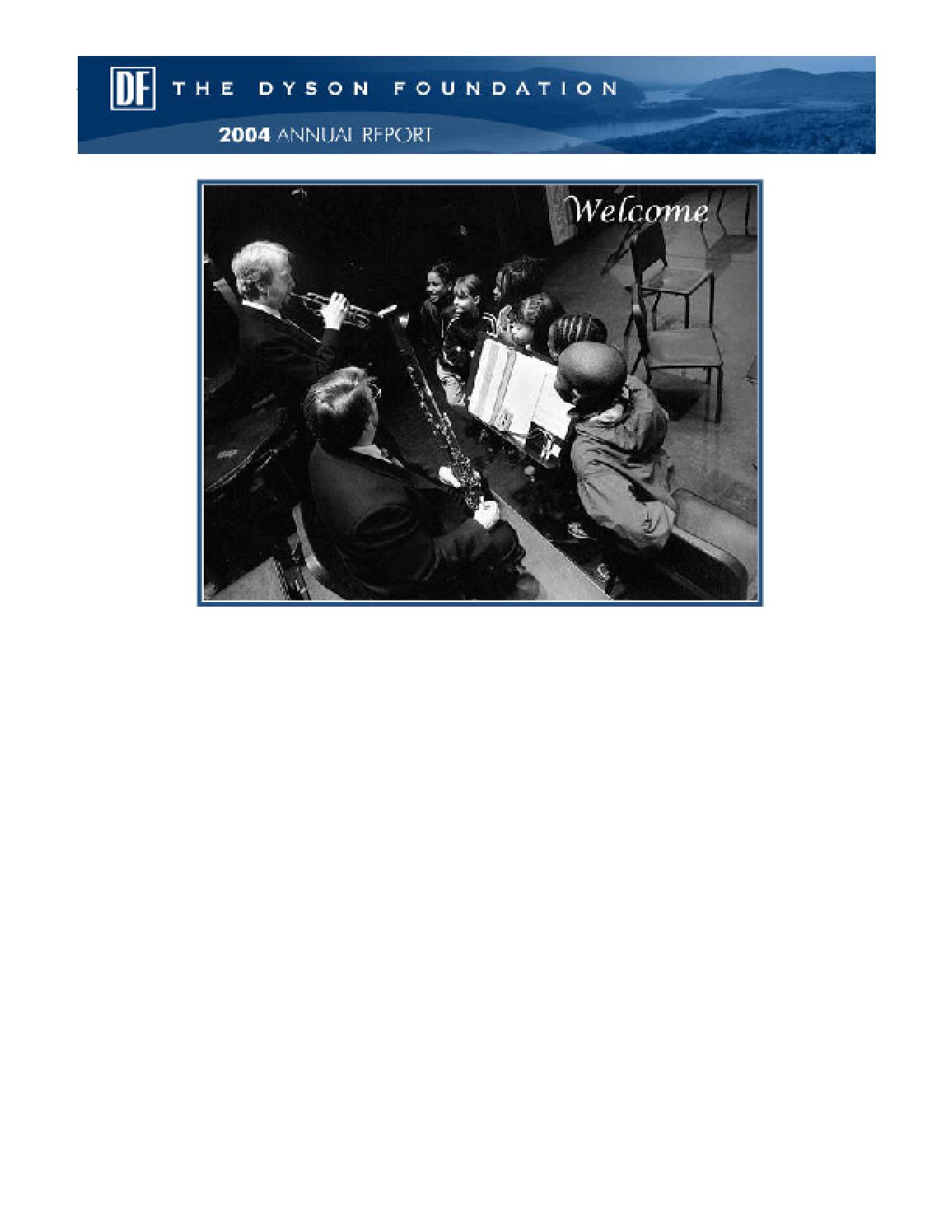Dyson Foundation - 2004 Annual Report