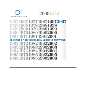 Dyson Foundation - 2006 Annual Report