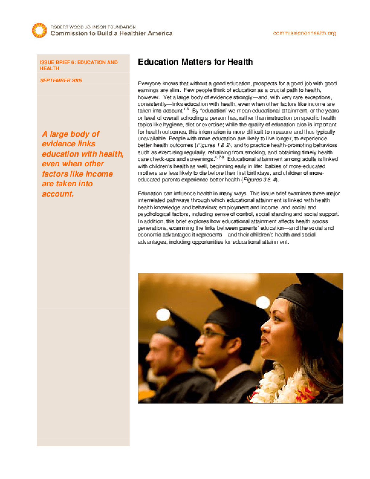 Education Matters for Health