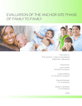 An Evaluation of the Anchor-Site Phase of Family to Family