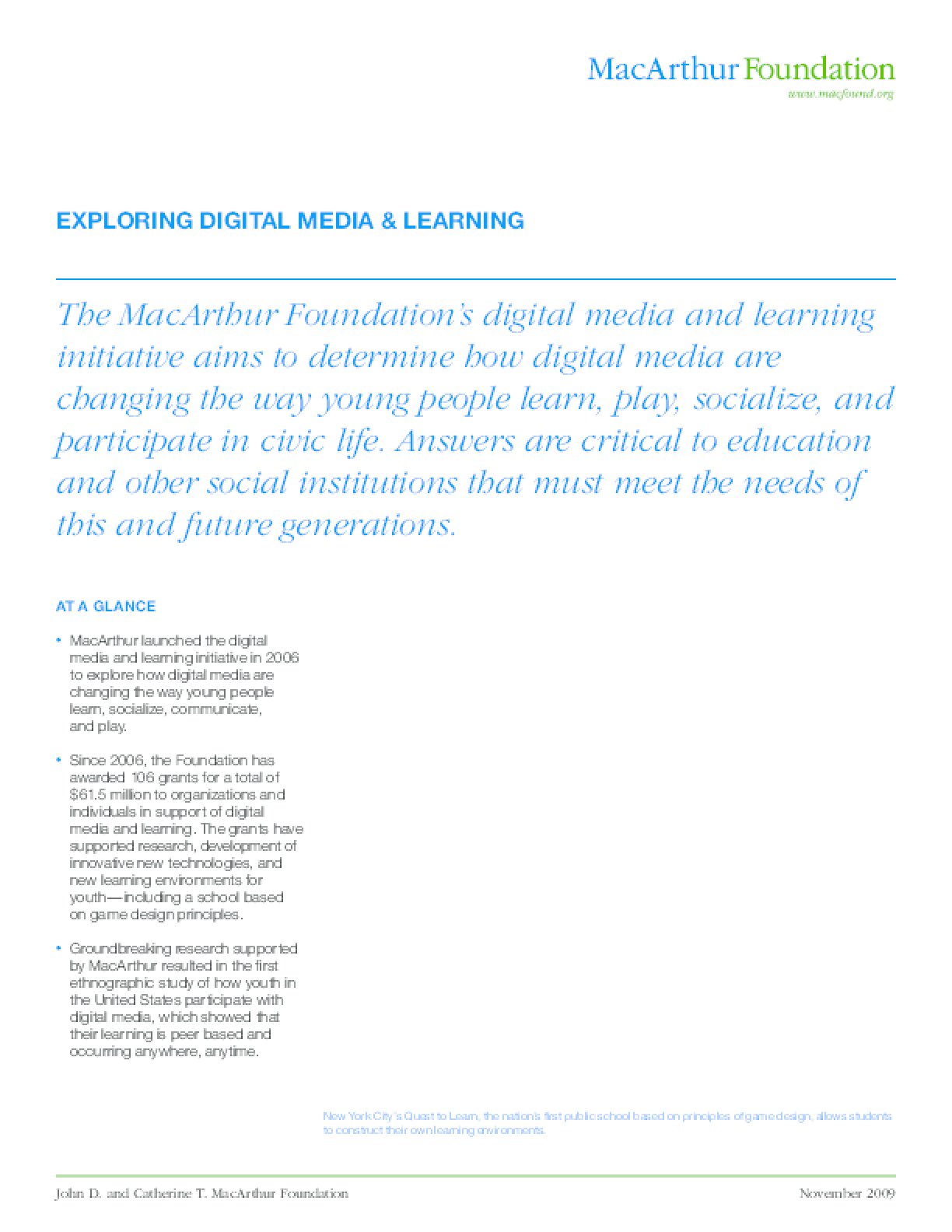 Exploring Digital Media & Learning