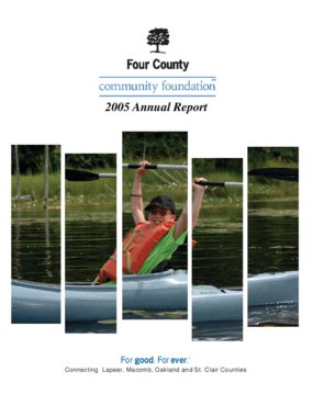 Four County Community Foundation - 2005 Annual Report