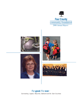 Four County Community Foundation - 2006 Annual Report