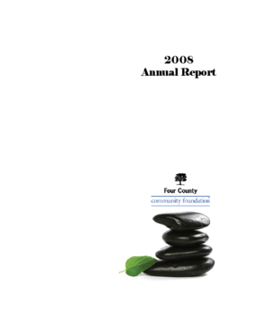 Four County Community Foundation - 2008 Annual Report