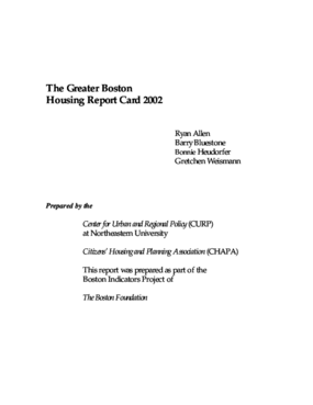 The Greater Boston Housing Report Card 2002: An Assessment of Progress on Housing in the Greater Boston Area
