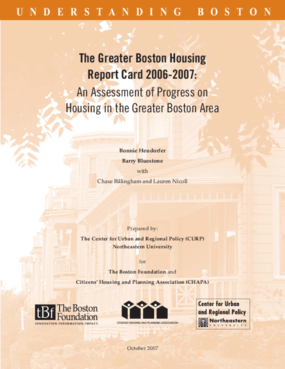 The Greater Boston Housing Report Card 2006-2007: An Assessment of Progress on Housing in the Greater Boston Area