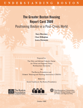The Greater Boston Housing Report Card 2009: Positioning Boston in a Post-Crisis World