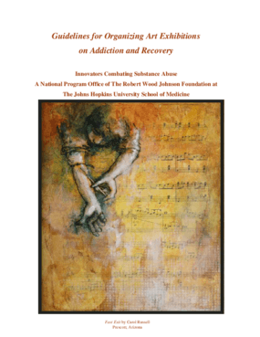 Guidelines for Organizing Art Exhibitions on Addiction and Recovery
