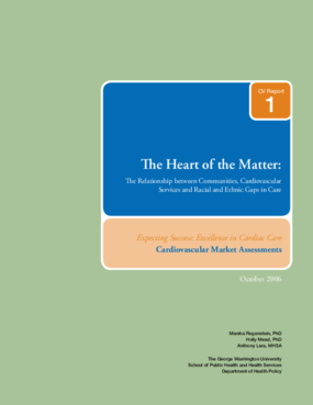 The Heart of the Matter: The Relationship Between Communities, Cardiovascular Services and Racial and Ethnic Gaps in Care