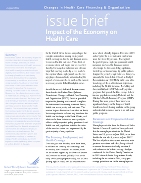 Impact of the Economy on Health Care