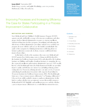 Improving Processes and Increasing Efficiency: The Case for States Participating in a Process Improvement Collaborative