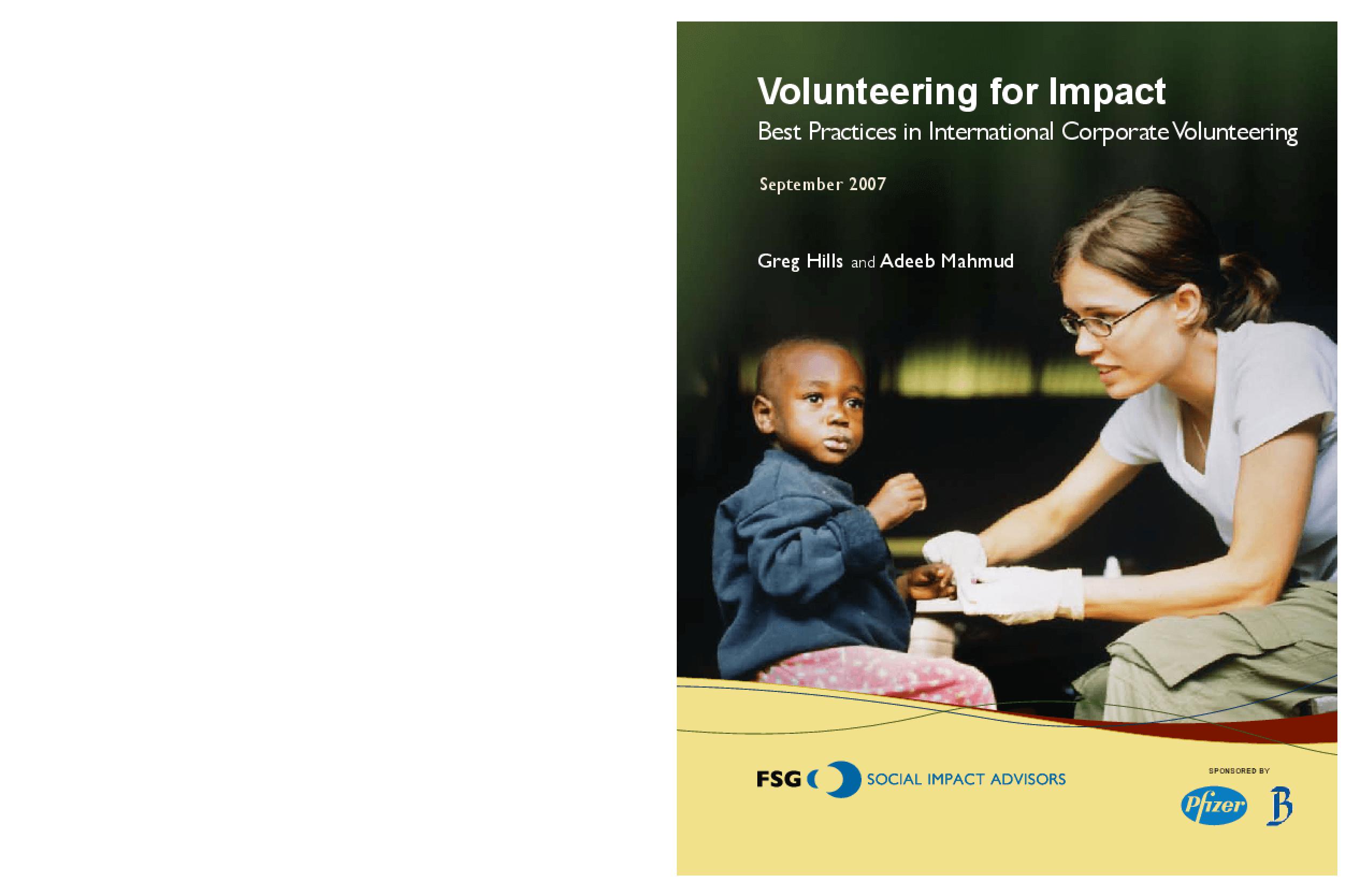 Volunteering for Impact: Best Practices in International Corporate Volunteering