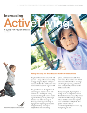 Increasing Active Living: A Guide for Policy-Makers