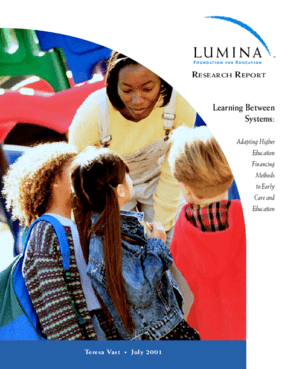 Learning Between Systems: Adapting Higher Education Financing Methods to Early Care and Education