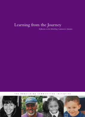 Learning From the Journey: Reflections on the Rebuilding Communities Initiative