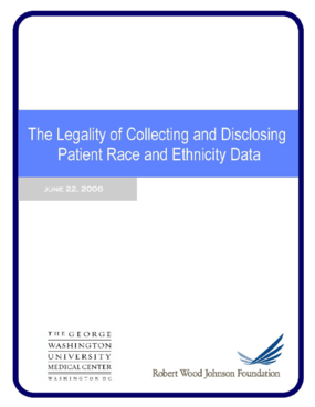 The Legality of Collecting and Disclosing Patient Race and Ethnicity Data