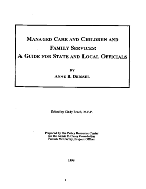Managed Care and Children and Family Services: A Guide for State and Local Officials