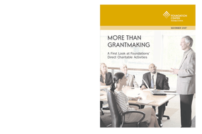 More Than Grantmaking: A First Look at Foundations' Direct Charitable Activities