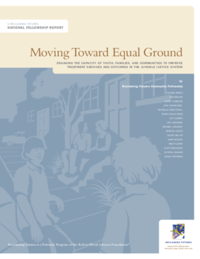 Moving Toward Equal Ground: Engaging the Capacity of Youth, Families, and Communities to Improve Treatment Services and Outcomes in the Juvenile Justice System