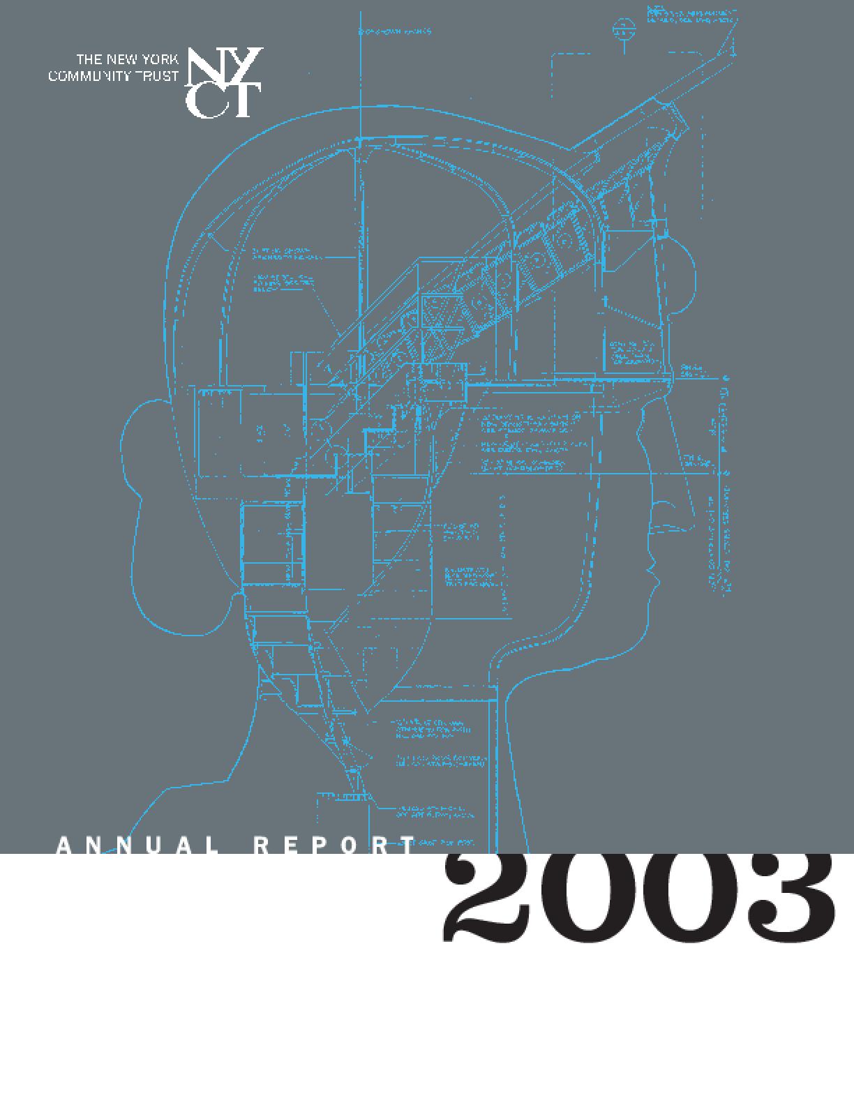 New York Community Trust - 2003 Annual Report