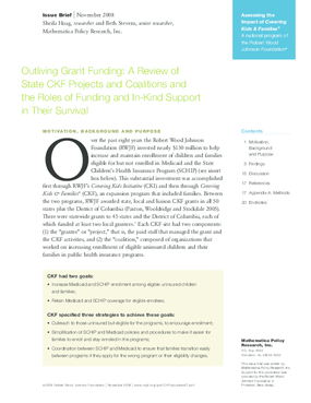 Outliving Grant Funding: A Review of State CKF Projects and Coalitions and the Roles of Funding and In-Kind Support in Their Survival