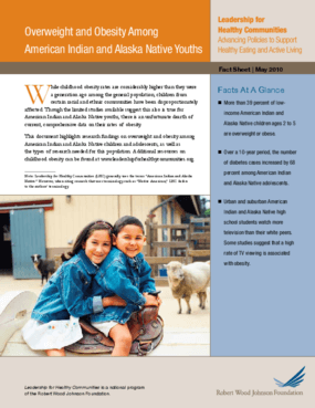 Overweight and Obesity Among American Indian and Alaska Native Youths