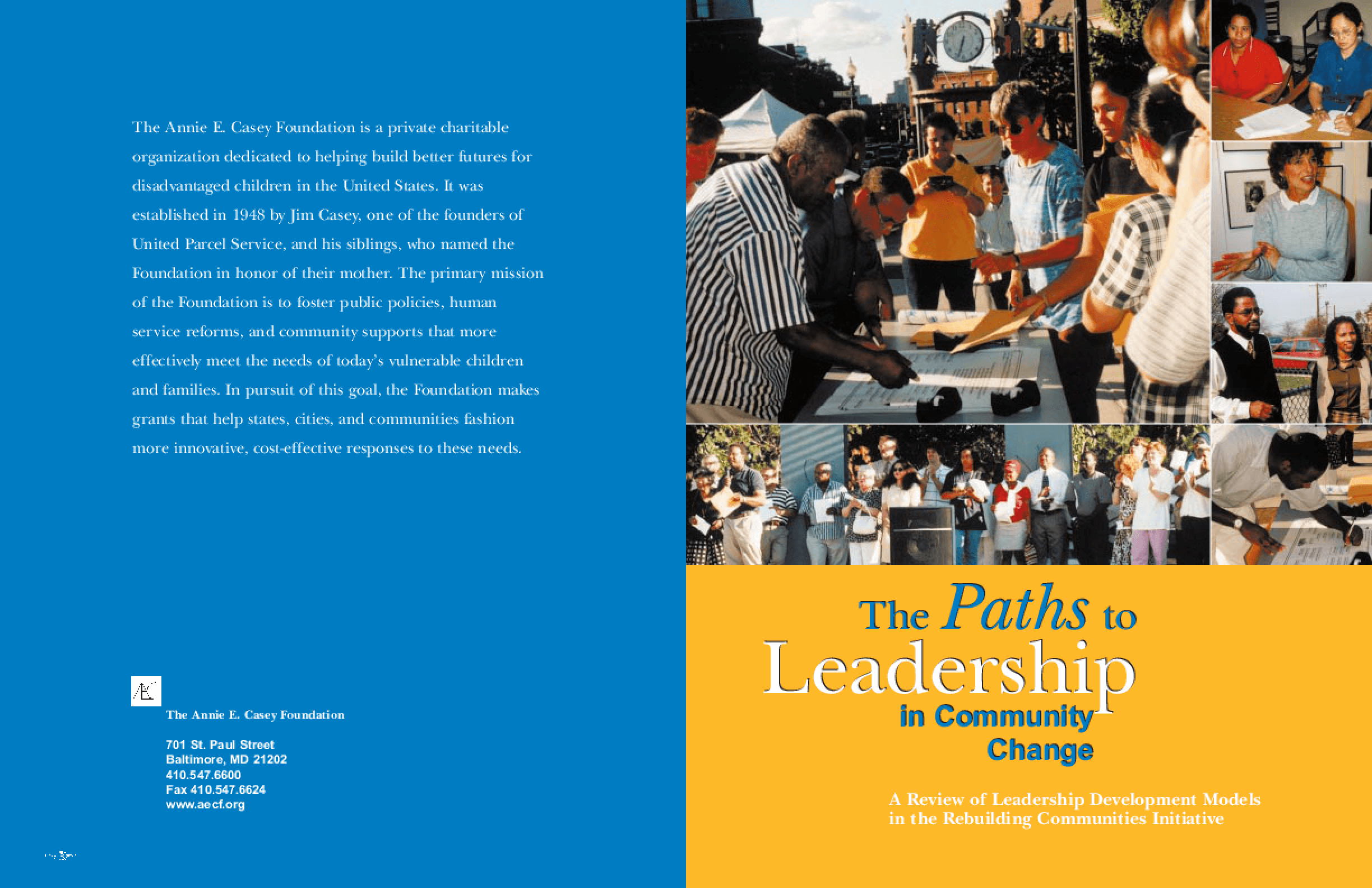 The Paths to Leadership in Community Change: A Review of Leadership Development Models in the Rebuilding Communities Initiative
