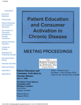 Patient Education and Consumer Activation in Chronic Disease
