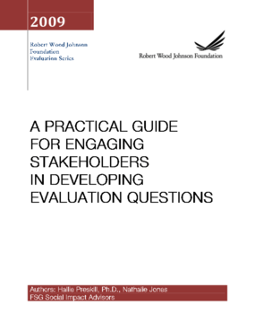 A Practical Guide for Engaging Stakeholders in Developing Evaluation Questions