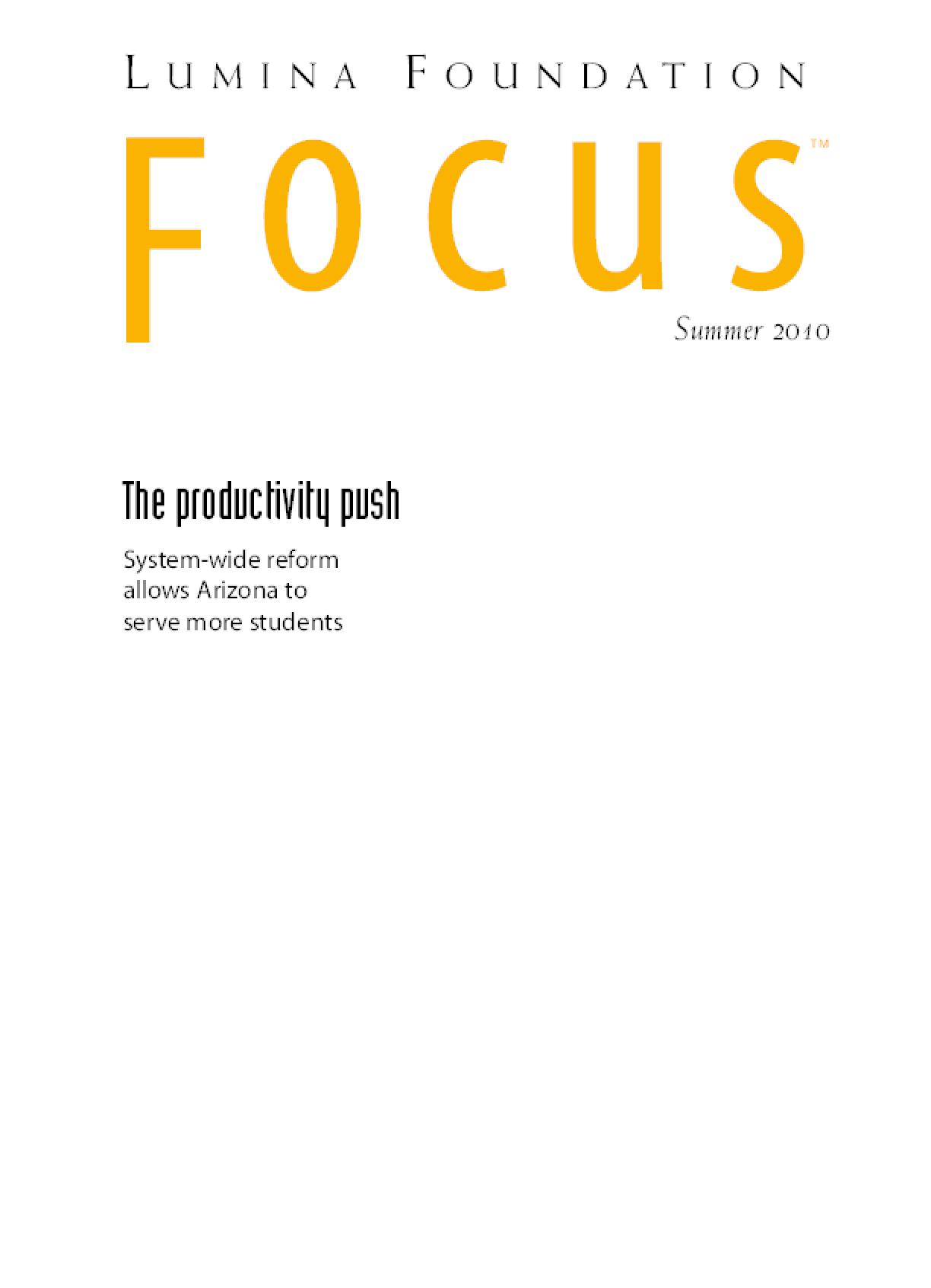 The Productivity Push