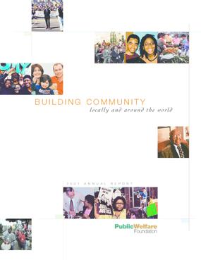 Public Welfare Foundation - 2001 Annual Report