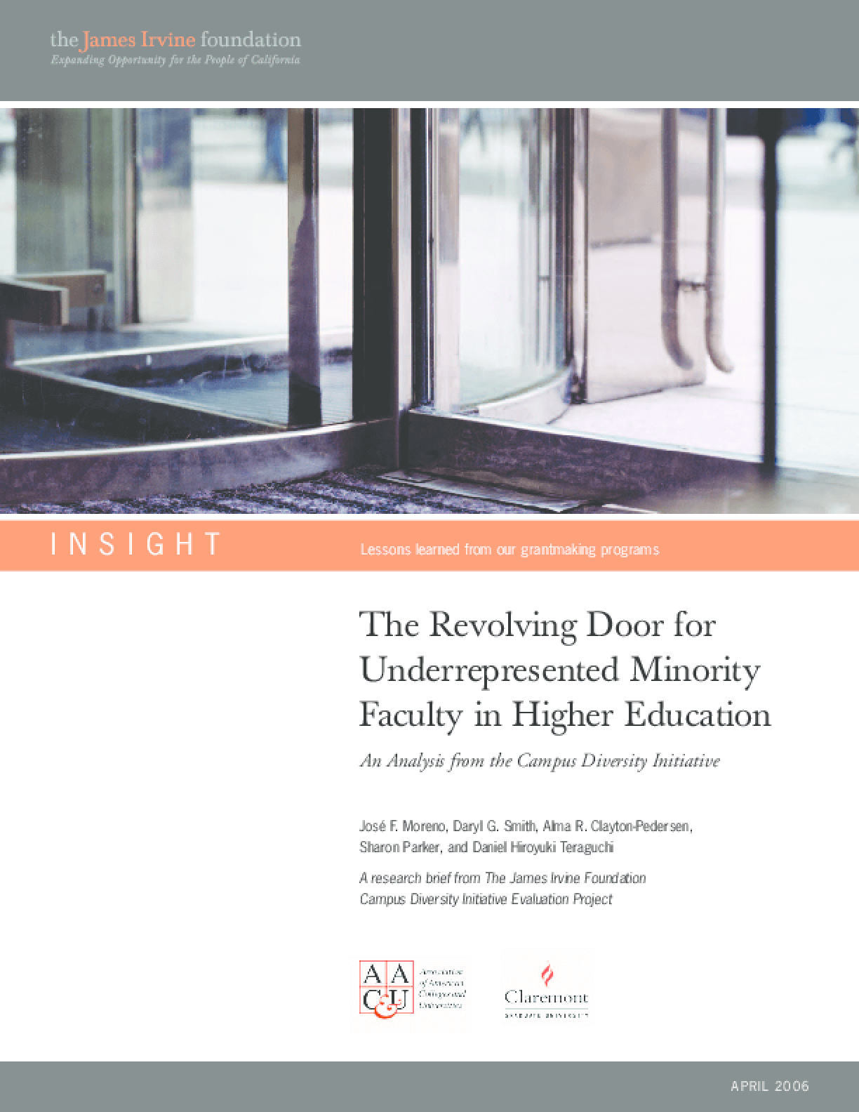 The Revolving Door for Underrepresented Minority Faculty in Higher Education