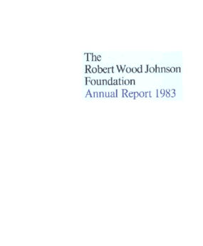 Robert Wood Johnson Foundation - 1983 Annual Report