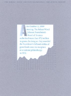 Robert Wood Johnson Foundation - 1989 Annual Report