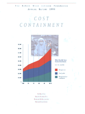 Robert Wood Johnson Foundation - 1994 Annual Report: Cost Containment