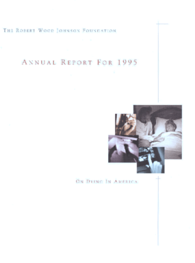 Robert Wood Johnson Foundation - 1995 Annual Report: On Dying in America