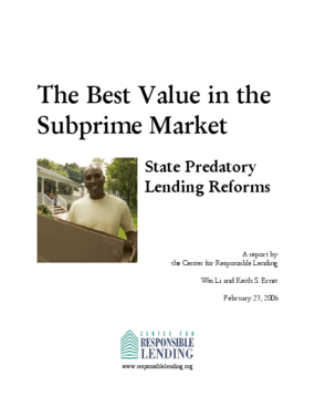 The Best Value in the Subprime Market: State Predatory Lending Reforms